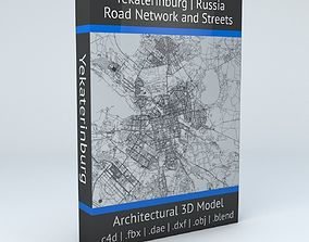 Yekaterinburg Road Network and Streets 3D