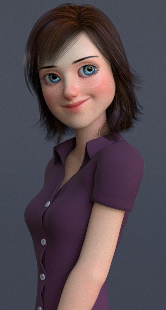 Jasmin Cartoon Girl