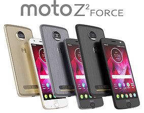 3D model Moto Z2 Force ALL COLORS