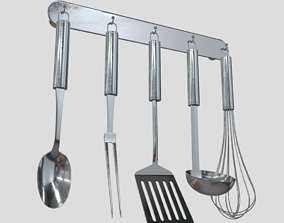 Kitchen Utensil Rack 3D model