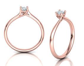 Engagement ring 4prong design Paradise 3dmodel
