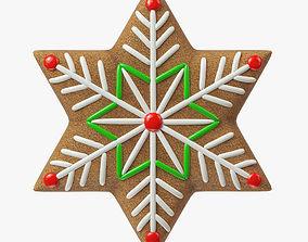 gingerbread cookie 08 3D model