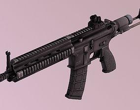 Assault Rifle HK416c AR PBR 3D model