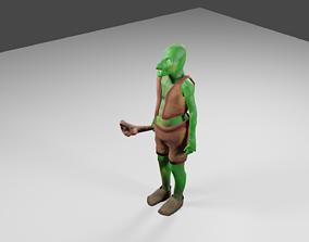 Woods swamp green goblin 3D asset