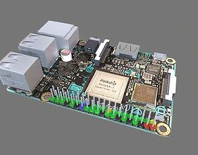 Asus Tinker Board S Circuit Board 3D asset