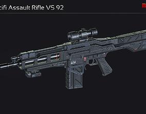 3D asset Scifi Assault Rifle VS 92