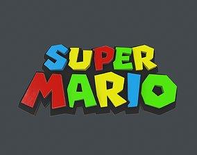 3D asset low-poly LOGO-005 Mario