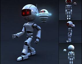 3D asset Robot Full Body Rigged Character
