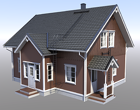 3D model VR / AR ready PBR roof House