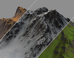 Stylized Low Poly Terrain - Tall 3D model
