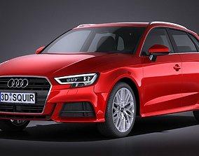 Audi A3 2017 5-door 3D model a3