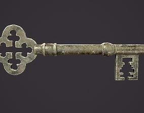 Medieval Skeleton Key 1 3D asset