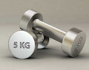 Gym dumbbell 3D