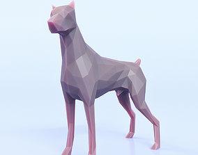 3D asset Dog Pose Low Poly