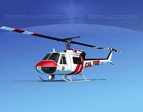 3D Bell 205 CALFire