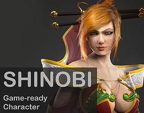 Shinobi Game-ready Character 3D model