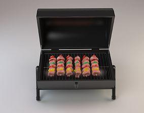 Shish kebab 3D model