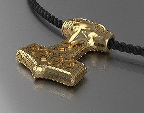 Amulet of Thor s hammer Mjolnir 3D print model
