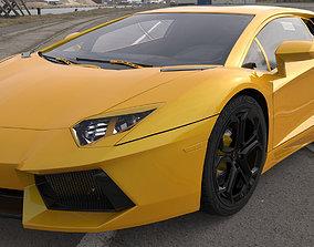 high-poly 3D model Lamborghini aventador