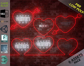 3D model Neon Hearts Pack1