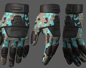 Gloves military combat protection pollution 3D asset 2