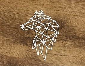 predator Geometric Wolf 3D printable model