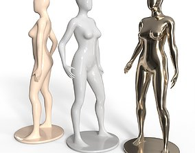 3D Female Mannequin Set