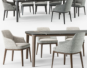 3D Poliform Sophie armchair Henry table set