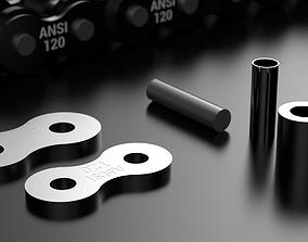 STANDARD ROLLER CHAIN - ANSI 120 3D printable model