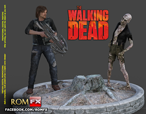 The Walking Dead Diorama Action Figures