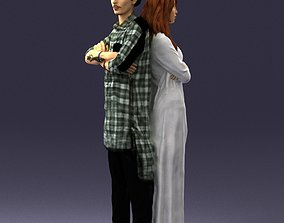 3D print model Young stylish couple 0330