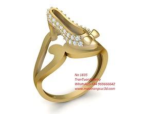 1835 Diamond high heels Ring 3D printable model