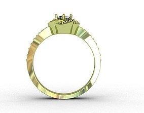Diamond Ring 3D print model wedding