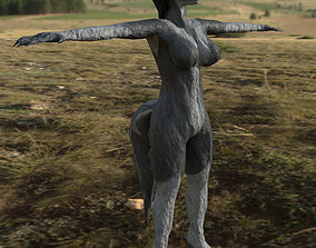 3D model Grey Werewolf Female V2