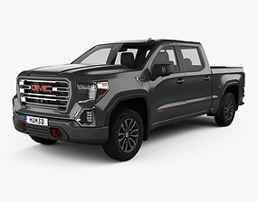 GMC Sierra 1500 Crew Cab Short Box AT4 2019 3D