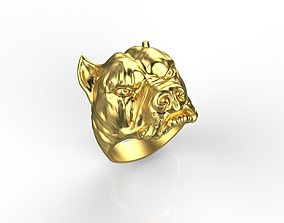 arctic Pitbull Dog Rings 3D print model