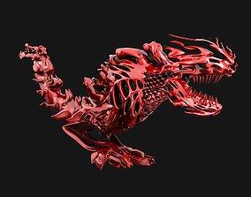 abstract robotic futuristic dinosaur 3D model