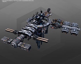 MODULAR Space Station MS2 3D model