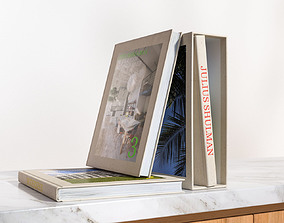 3D Standing and lying books