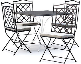 3D model Manutti St-Tropez Chair with Firenze table