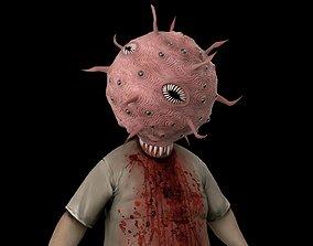 3D asset Coronavirus Zombie Covid19 Monster Scary Horror 2