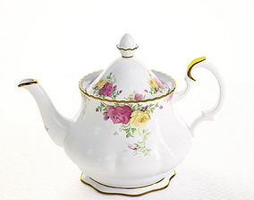 3D model Floral Porcelain Teapot
