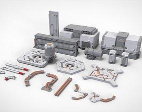 3D sci-fi Architecture kitbash 31