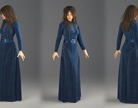Jeans Dress Marvelous Designer and 3ds max and Vray
