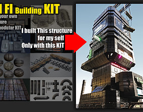 sci fi Modular kit - building components 3D PBR