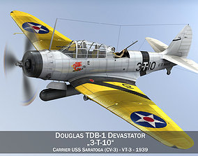 Douglas TDB-1 Devastator - 3T10 3D us