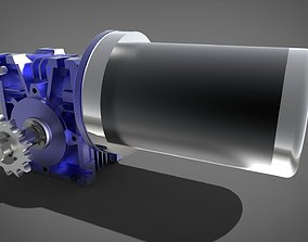 3D model Gearbox and Motor