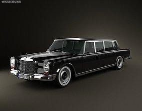 3D model Mercedes-Benz 600 W100 Pullman 1964
