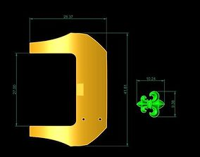 TJ 53 3D Golden Watch Chain jewery