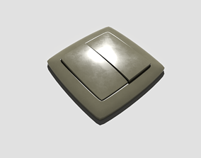 Light Switch Double 3D model